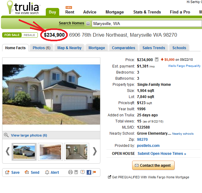Trulia Listing Screen Shot